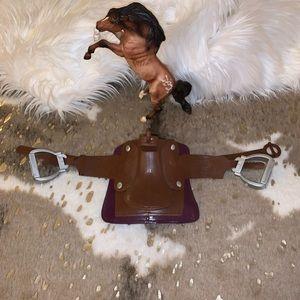 Doll Toy Horse Western Saddle